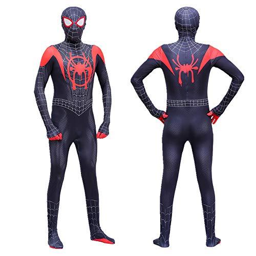 Kostüm Erwachsene Black Für Spiderman - Lycra Spandex Neutral Cosplay Strümpfe Halloween Cosplay Kostüm für Kinder / 3D Style für Erwachsene (geeignet für Körpergröße von 110cm bis 180cm) (XL(150), Black spider)