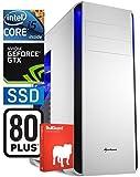 SNOGARD Gaming PC | Intel i5-7600K,6GB Nvidia Geforce GTX1060 OC, 16GB DDR4 RAM, 240GB SSD + CD/DVD-Rewriter | Gamer PC Komplett System | Custom PC Gaming Desktop Computer | Spiele Computer