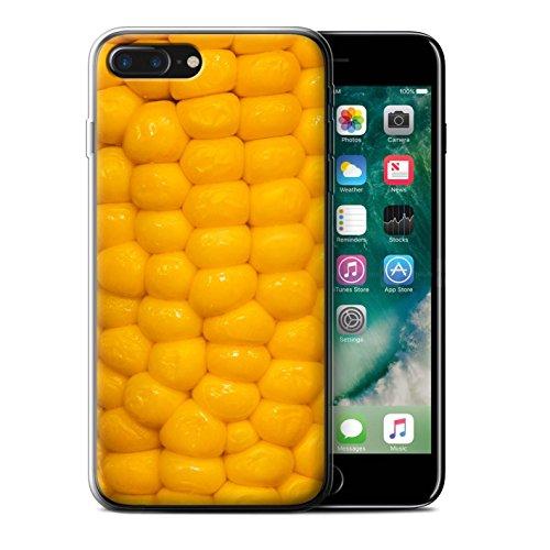 Stuff4 Gel TPU Hülle / Case für Apple iPhone 7 Plus / Schokolade Muster / Lebensmittel Kollektion Maiskolben