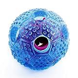 Hundespielzeug, IRROT Hundespielball für Hunde/Katzen, aus Naturgummi Kauknochen für das Training/Spiel Gummi ungiftig, blau