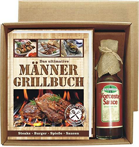 Andrea Verlag Männer Grill Profi Set's Männer Grillbuch Männergrillbuch (Männer Grillbuch mit Worcester Sauce 22520)