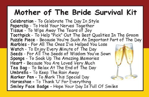 mother of the bride survival kit in a can humorous novelty gift