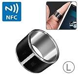 NFC Ring Smart-Ring, High-End-Mode, Wasserdicht und staubdicht, Geeignet für Android-Smartphone mit NFC-Funktion, Größe: L (ID 20,5 mm)