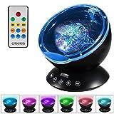 CITTATREND RGB 12 LED Projektor - Multifarben Wasserwellen Lichteffekt mit Fernbedienung - MP3 Funktion Bühnenbeleuchtung - für Weihnachten Party Hause Disco