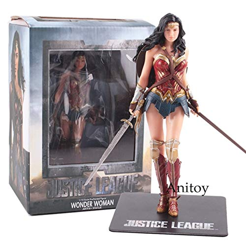 atue ARTFX Batman Der Blitz Superman Cyborg Wonder Woman Actionfigur PVC Sammeln Modell Spielzeug, Wonder Woman ()