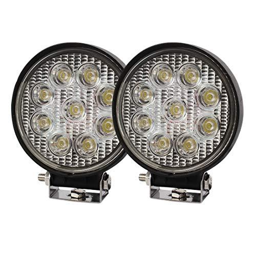 SXMA Phares de Conduite /à Del Ronds de 80 Pouces 5W pour /éclairage de Travail /à LED Grille de Pare-Chocs Avant Pare-Brise Phares de Feux de Route /à LED pour Toit 4x4 Toit de Pare-Chocs