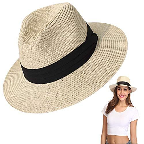 Amycute Sombrero de Paja Verano