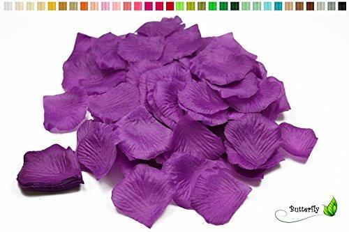 k Rosenblüten (lila/Purpur 465) // Rosenblätter Blütenblätter Streudeko Blüten Blätter Tischdecko Hochzeit Party ()