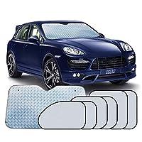 UMIWE Car Sun Visor-(7 PCS,Silver) for Size Cars, SUV,Trucks Window Shade Foldable Sunscreen Reflector Flame Retardant Waterproof Car Protective Cover