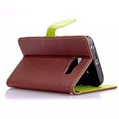 """MOONBAY MALL Leaf Button Pattern Premium Housse en PU Cuir Portefeuille Etui Housse Flip Case pour Apple iPhone 6 Plus / iPhone 6S Plus (5.5"""" inch) avec fonction de support - Stylet & film de protecti F032"""