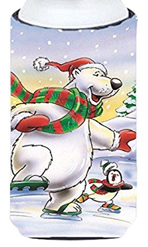 holiday-polar-bears-ice-skating-tall-boy-koozie-hugger-aah7270tbc