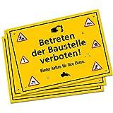 6 x Platzsets / Tischsets * Bauarbeiter / Baustelle * für Kinder Mottoparty // Baumeister Geburtstag Party Bob Geburtstagsparty Kindergeburtstag
