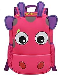 KingMountain Kid Backpack 3D, Baby Boys Girls Toddler Pre School Backpack Children Backpacks Bags (Pink)