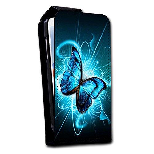 Flip Style vertikal Handy Tasche Case Schutz Hülle Foto Schale Motiv Etui für Apple iPhone 5 / 5S - V4 Design2 Design 2