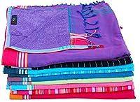 L'asciugamano Kikoy è un Kikoy cotone 100% tradizionale rivestito con una sottile spugna che lo rende ideale per il lato spiaggia o in piscina come si asciuga rapidamente. Ha una piccola tasca cucita dentro per la chiave della camera o il den...