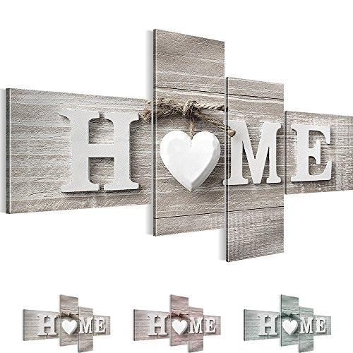 Bilder – Wandbild - Vlies Leinwand - 100 x 50 cm - Home Bild - Kunstdrucke – mehrere Farben und Größen im Shop - Fertig Aufgespannt - Haus – Willkommen 504442a