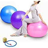 Baba Electronics Gym Ball FitBall Swiss Ball Home Exerciser With Foot Pump For Total Body Fitness|| Abdominal Toner - Diameter 100 Cm