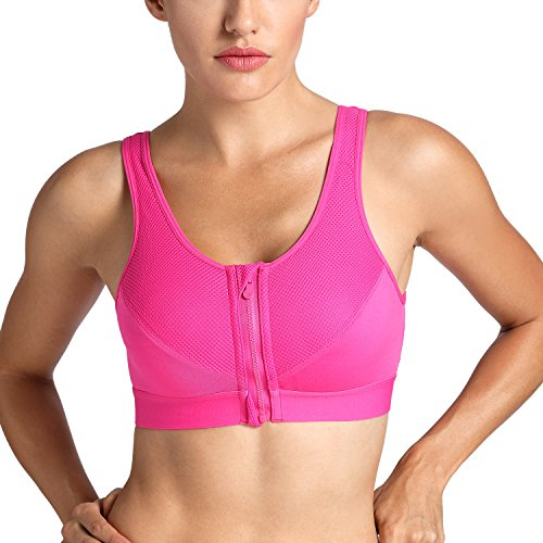 Foto de La Isla - Sujetador Deportivo con Cremallera Delantera Para Mujer Hot Pink 110B