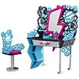 Monster High Playset - Frankie Stein Vanity and Chair Set - Fashion Doll Accessory