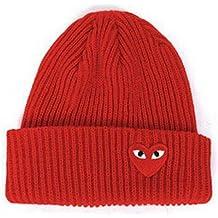 HAOLIEQUAN Cappelli Caldi da Donna Invernale Occhi Cuore Berretti con  Etichetta Cartoon Berretti A Maglia Toucas 9bf0102837fc