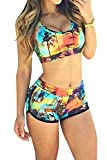 Best Ninimour Bathing suits - Ninimour Womens Bandage Sporty Bathing Suit Boyleg Short Review