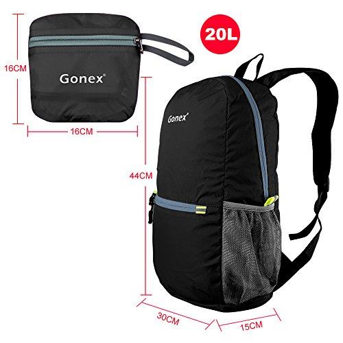 b04e1b0e1d7c7 ... Gonex Unisex 20 Liter Faltbarer Rucksack Leichter Tagesrucksack