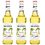 Monin Sirup Vanille, 0,7L 3er Pack