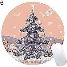 XINSU Decoraciones navideñas Muñeco de Nieve de Navidad Reno Imprimir Antideslizante Gaming Mouse Pad Mat (