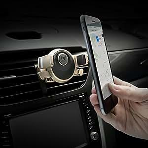 LussoLiv BASEUS Mechanical Era Car Mount Auto Clip 360° Rotation Car Phone Holder For iPhone 7Plus 6s Plus