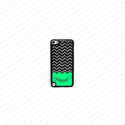 Krezy case Monogram iPod Touch 5 case, Colorful chevron pattern Monogram iPod 5 case, Monogram iPod 5 case, iPod 5 case (not a Real glitter)