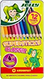 JOLLY 3000-0246 - Supersticks Classic, 12 Farben, Mine, Lernmaterialien, 3.8 mm