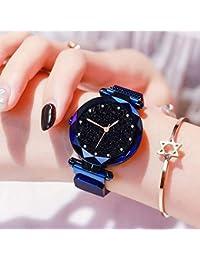 TIMESOON Casual Designer Black Dial Magnet Watch - for Girls & Women (Blue)