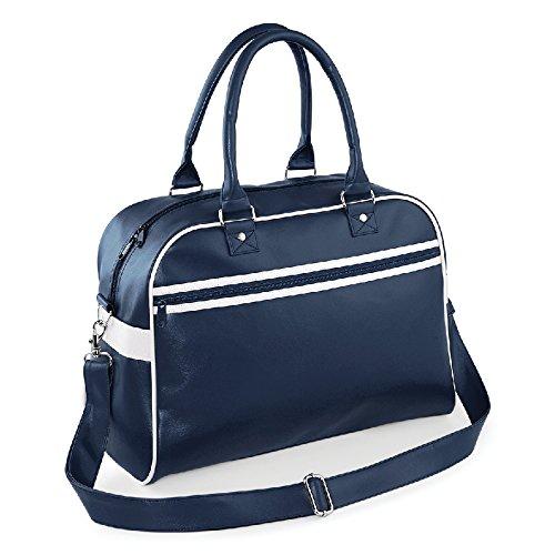 Retro Bowling Bag- Borsa in ecopelle Blu