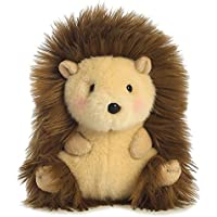 Aurora Juguete Erizo Mascota de Peluche World Happy Hedgehog Rolly (Beige/Marrón/Rosa
