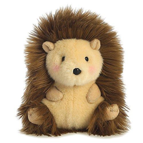 Aurora Juguete Erizo Mascota de Peluche World Happy Hedgehog Rolly (Beige/Marrón/Rosa).