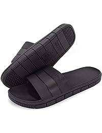 b9eeabcf0f0d Minetom® Women Men Slip On Slippers Unisex Non-Slip Shower Sandals House  Mule Soft