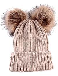 feiXIANG Cappello del Bambino Bambino Carino Inverno Neonato Cappelli in  Lana Maglia Orlo Cappello 731d3a095557