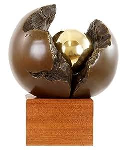 Moderne Kunst Skulptur - Neubeginn – Abstrakte Kunst - zweiteilig - signiert Martin Klein - Bronzefiguren kaufen