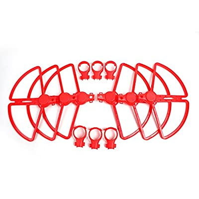 Hensych 4 Pieces Quick Release Propellers Props Blades Protectors Guard Covers Bumpers for YUNEEC Typhoon H480 Quadcopter Spare Parts Accessories Red
