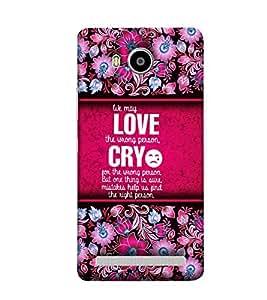 Fuson Designer Back Case Cover for Lenovo A7700 ( Love Quotes Inspiration Emotion Care Fun Funny )