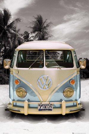 Poster \'VW Bulli California Camper\', Größe: 61 x 91 cm