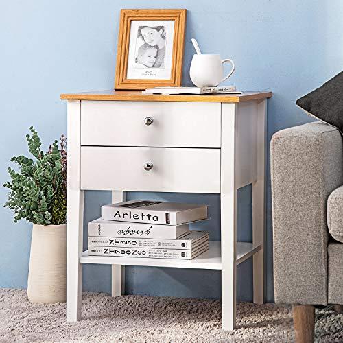 Modern Luxe Nachttisch Wohnzimmer Schrank Sideboard mit 2 Schubladen für Wohnzimmer Schlafzimmer Wohnzimmer Home Storage Unit Regal Nachttisch -