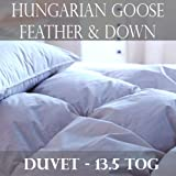 100% Luxury Hungarian Goose Feather and Down Duvet/Quilt- 13.5 Tog All Bed Sizes (Double)