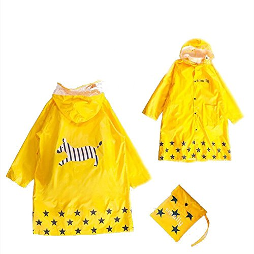 Chubasquero amarillo infantil resistente al agua