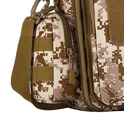 Gazechimp Unisex Umhängetasche Taktische Schultertasche / Handtasche Outdoor Sporttasche Herren Frauen Freizeittasche, hochwertig und modisch Desert Digital