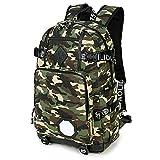 Huichao Outdoor-Camouflage-Rucksack, Studententasche mit großem Inhalt, grün