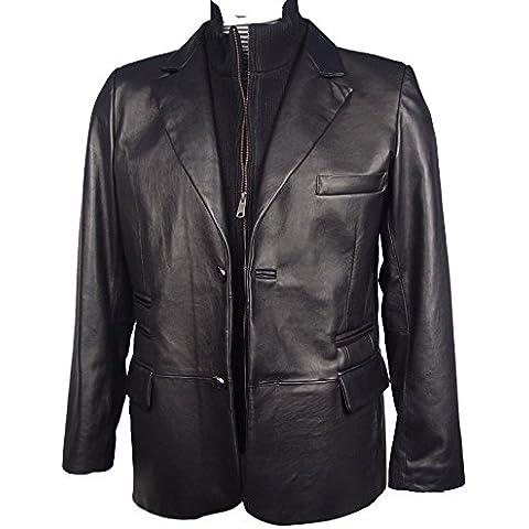 Paccilo hombres de costura 1043 de tamaño regular y BIG cuero ultra suave Blazer