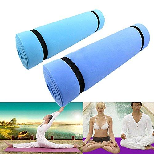 Meatyhjk Yogamatte, 6 mm dick, strapazierfähig, EVA-Yogamatte, Fitnessstudio, Workout, rutschfeste Unterlage für Camping