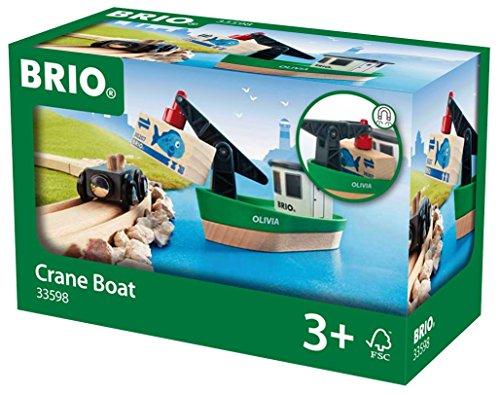 BRIO World 33598 - Frachtschiff mit Kran