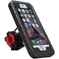 iitrust Funda Impermeable Soporte para bicicleta Case a Prueba de Agua,Golpes,Polvo,Waterproof Case para iphone 6 plus o iphone 6S plus,color negro